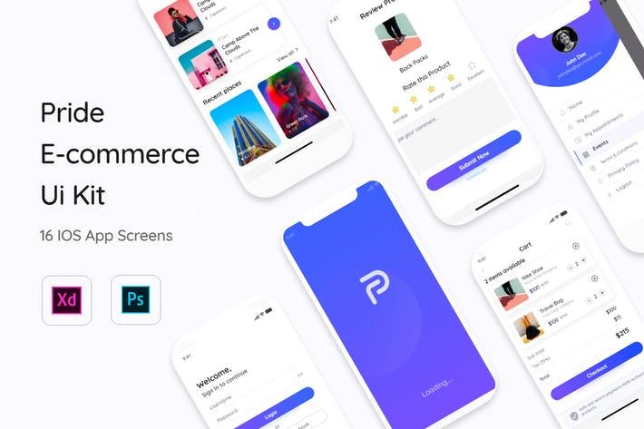 Pride E-Commerce App Mobile UI Kit