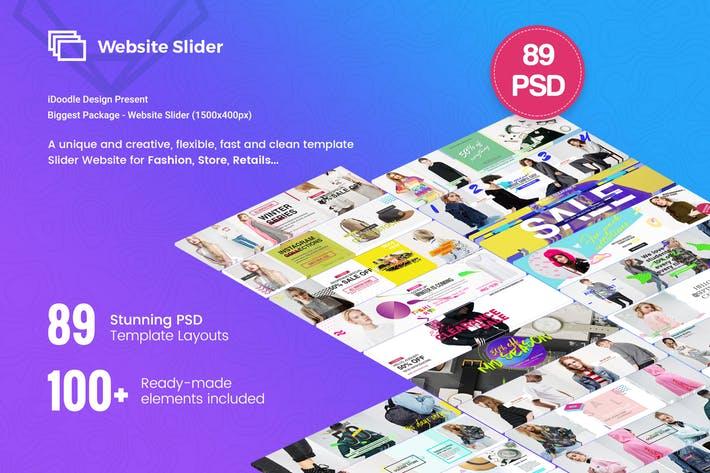 Fashion Website Slider - 89 PSD