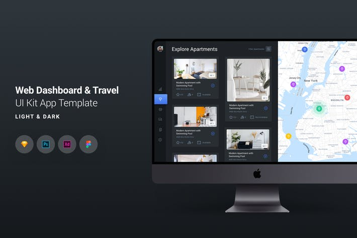 Web Dashboard & Travel UI Kit App Template 5