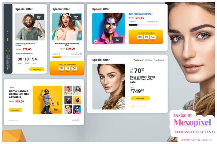 eCommerce Website Widget UI Kit PSD