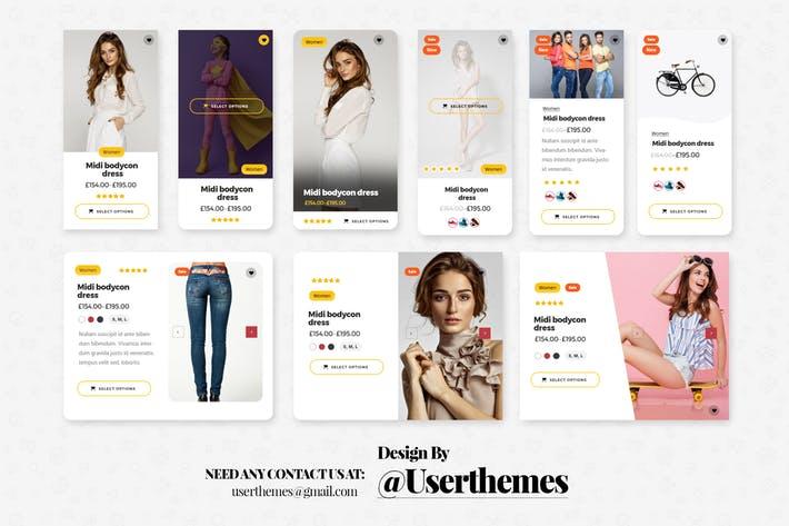 eCommerce Website Widget UI Kit Elements PSD