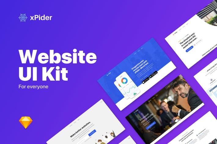 xPider - Website UI Kit