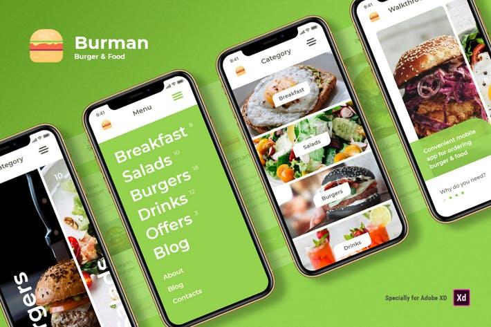 Burman - Burger & Food iOS UI Kit