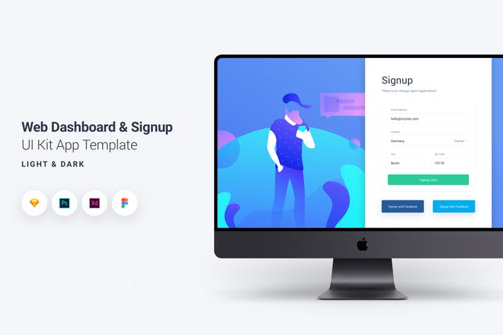 Web Dashboard & Signup UI Kit App Template 10