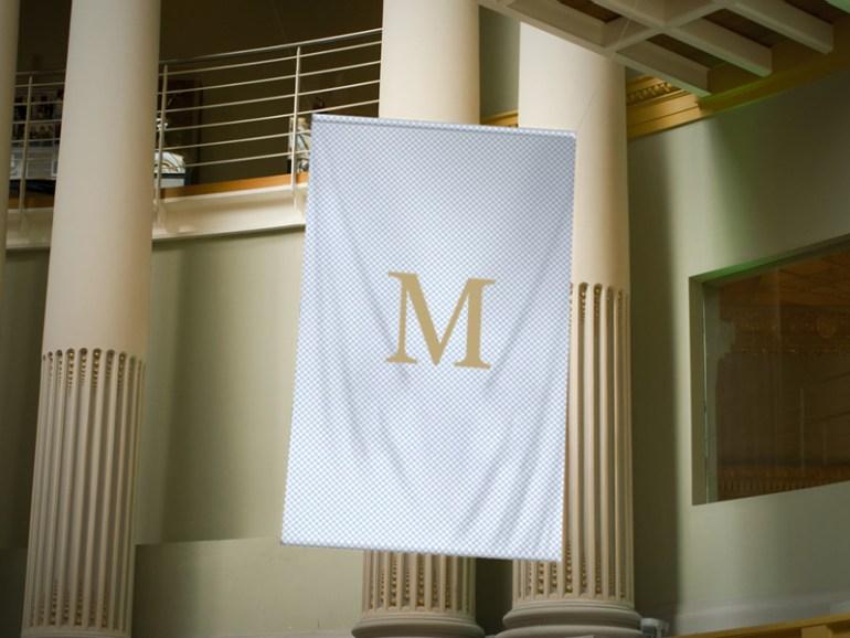 55 Realistic Flag Mockup Psd For Branding Free 038 Premium