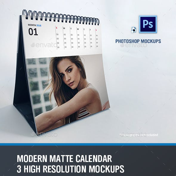 Modern Calendar Mockups