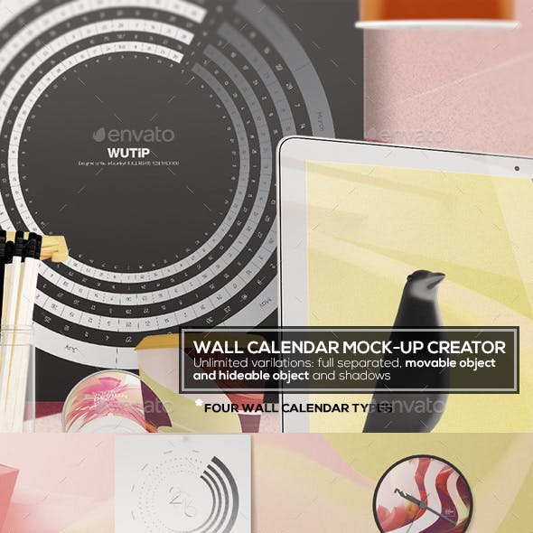 Wall Calendar Mockup Creator