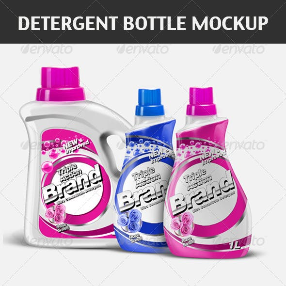 Detergent Bottles Mock-up