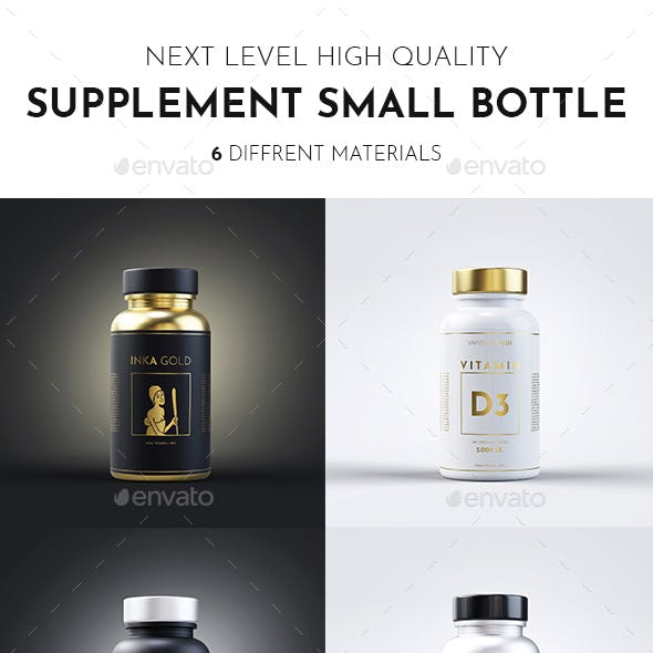 Supplement Bottle Mock up