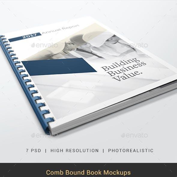 Comb Bound Book Mockups