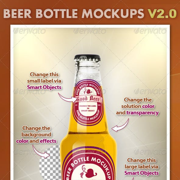 Beer Bottle Mockups V2.0