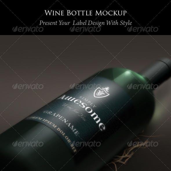 Bottle and Label Mockup