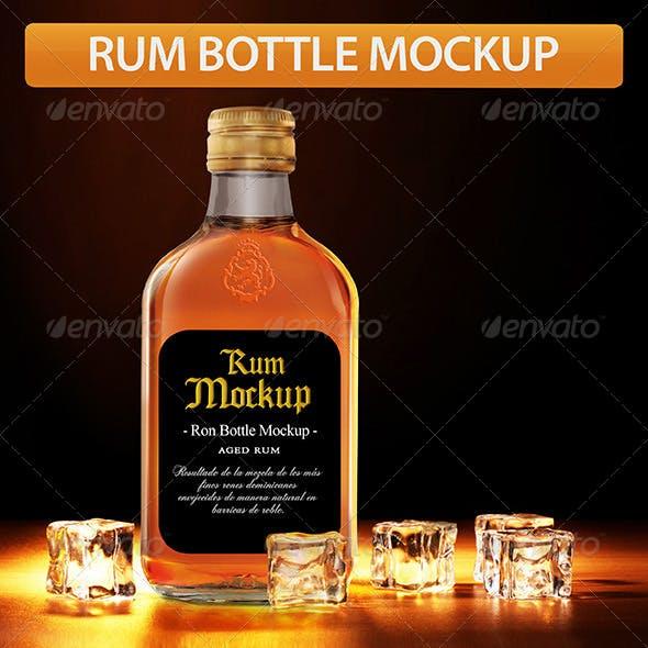 Rum Bottle Mockup