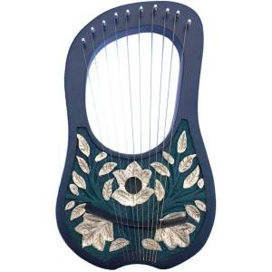 Golden Leave Lyre Harp 10 Strings