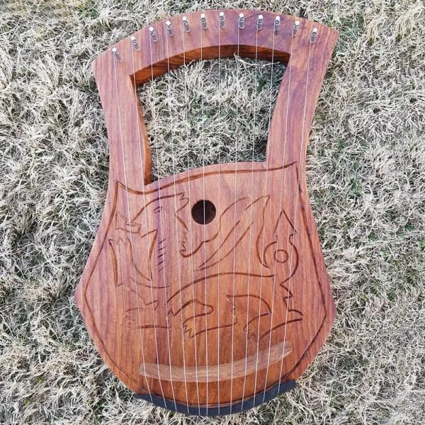 12 strings Dragon Lyre harp