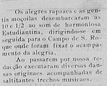 "11 July 1909: Note in the Paquetá newsletter ""O Paquetaense"" -11 July 1909 - announcing a visit for a pic-nic by ""Ameno Resedá"""