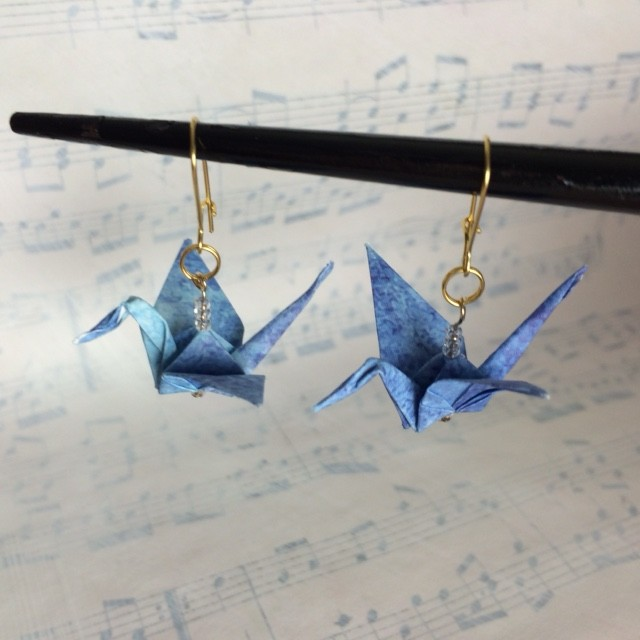 origami earrings  Lyric Art