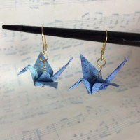 origami earrings  Lyric Art
