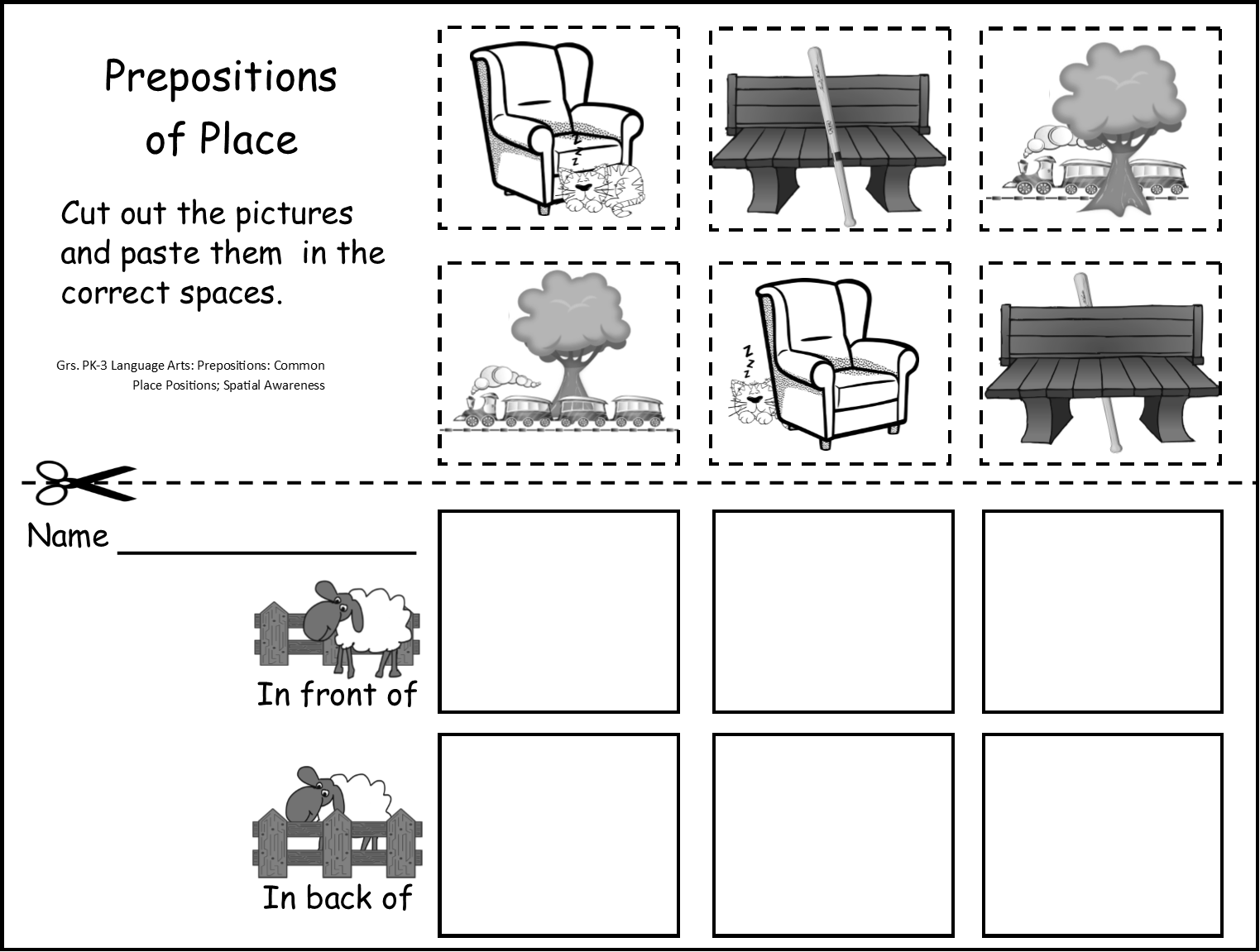 My Book On Directions And Prepositions Of Place Grades 2