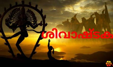 Shivashtakam Stotram/mantra lyrics in Malayalam with pdf and meaning