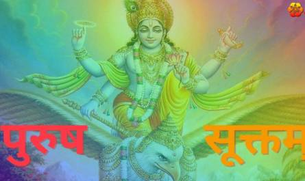 Purusha Suktam Stotram lyrics in Hindi with meaning, benefits, pdf and mp3 song