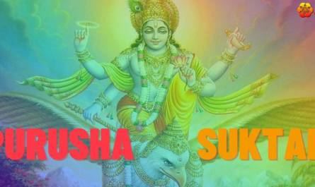 Purusha Suktam Stotram lyrics in English with meaning, benefits, pdf and mp3 song