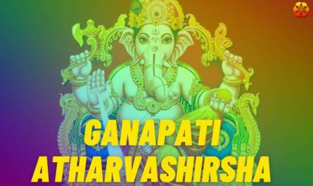 Ganapati Atharvashirsha lyrics in English pdf with meaning, benefits and mp3 song