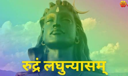 Sri Rudram Laghunyasam lyrics in Hindi pdf with meaning, benefits and mp3 song.