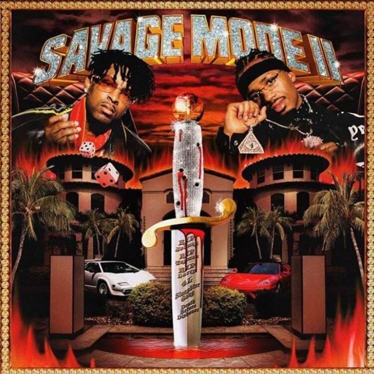 21 Savage & Metro Boomin - SAVAGE MODE II (Album Cover)