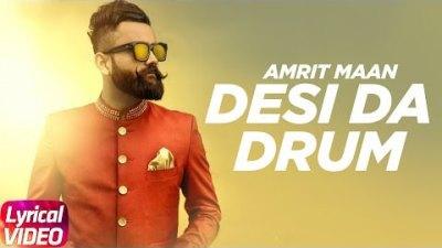 Desi Da Drum (Lyrical)   Amrit Maan   DJ Flow   Latest Punjabi Lyrical Song   Speed Records
