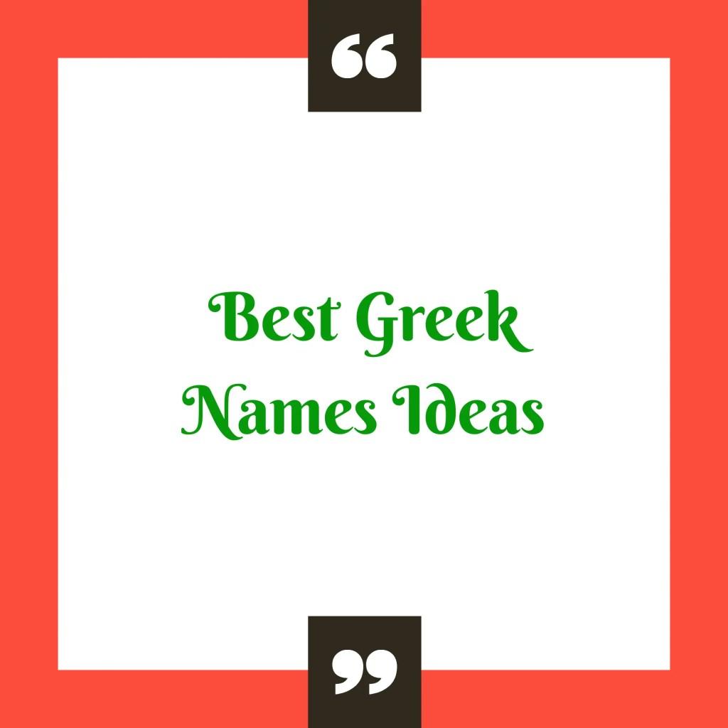 Greek names