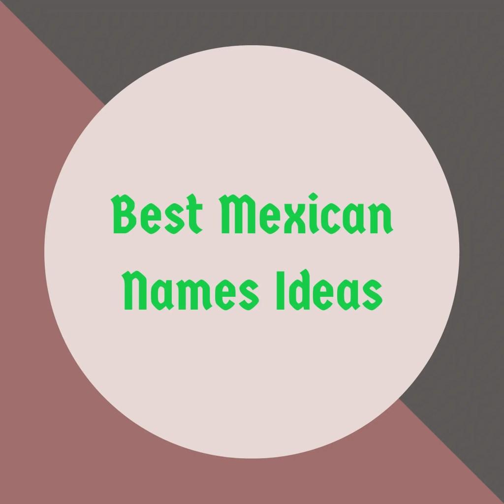 Mexican names