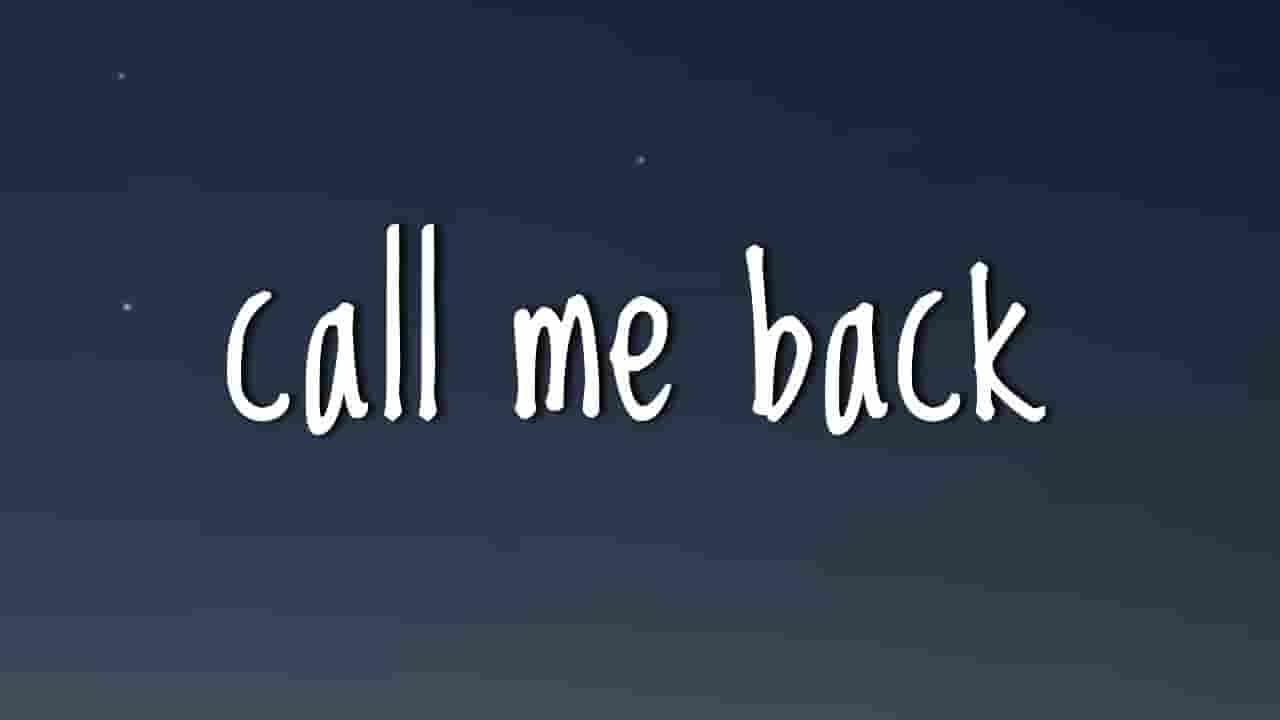 Call Me Back Lyrics - Billie Eilish