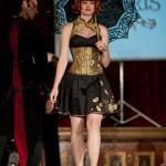 Autumn lack and gold embroidered corset and dress