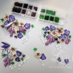 Beaded thermoplastic poison flowers
