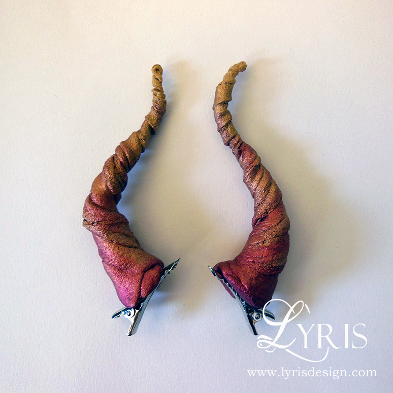 Dragon horn clips  Lyris Design