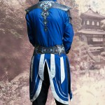 Corrin blue fantasy coat with black leather armour