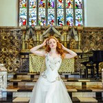 Ivory flame wedding gown