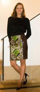 Voilà Apparel modern African print skirt