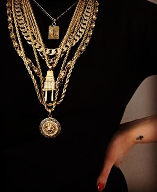 Minimal jewelry gold chains layered lysa africa