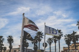huntington beach california flag