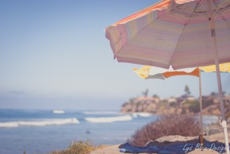 beach umbrellas ocean san diego tourmaline