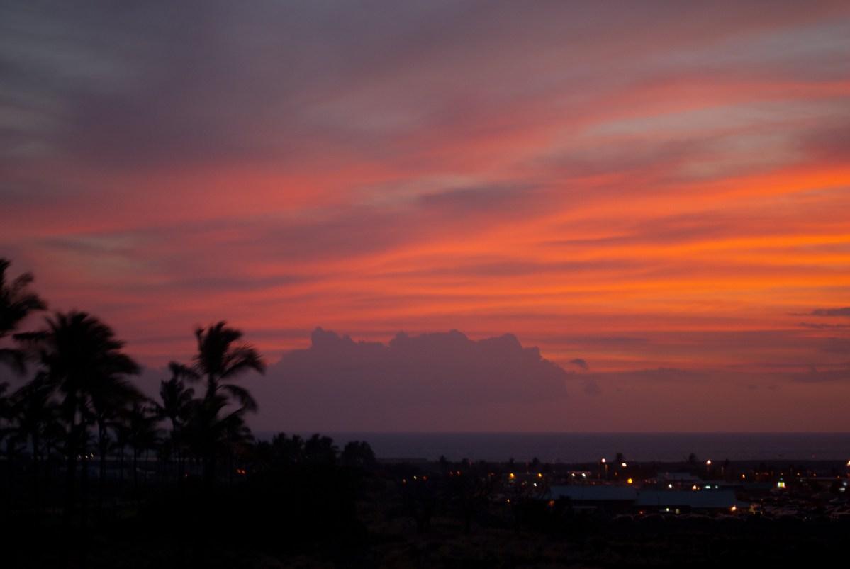 sunset photos - sunset pictures - sunset images - hawaii photos - palm trees - paradise - ocean