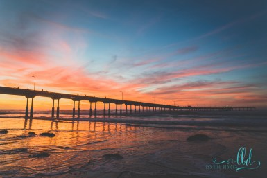 ocean beach pier sunset