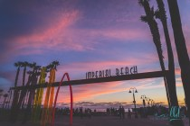 imperial beach, imperial beach neon sign, imperial beach pier, san diego, san diego neon signs, san diego neighborhoods, san diego photos, sunset photo, urban photography