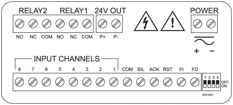 PD8-154-158 wiring connections