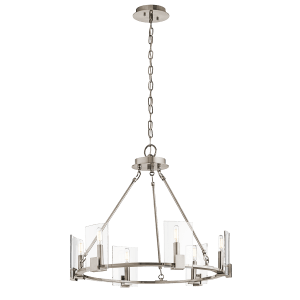 Signata 6 Light Chandelier in Classic Pewter