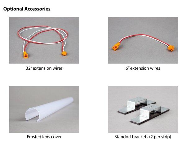 Standoff Brackets for Magnetic Striplight Kit (2 per strip)