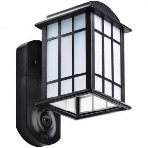 Craftsman Smart Security Black Metal and Glass Outdoor Light Fixture w/ Camera