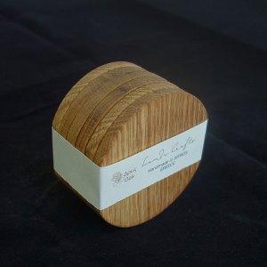ξύλινο σουβέρ στρογγυλό σετ 6 τεμάχια